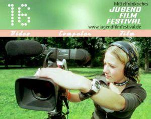 Titelmotiv des 16. Mittelfränkischen Jugendfilmfestivals
