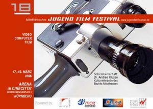 Titelmotiv des 18. Mittelfränkischen Jugendfilmfestivals