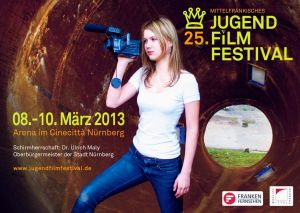 Titelmotiv des 25. Mittelfränkischen Jugendfilmfestivals