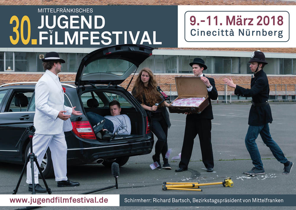 Titelmotiv des 30. Mittelfränkischen Jugendfilmfestivals