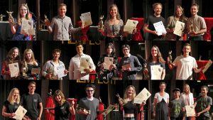 Collage mit allen Preisträgern des 32. Mittelfränkischen Jugendfilmfestivals