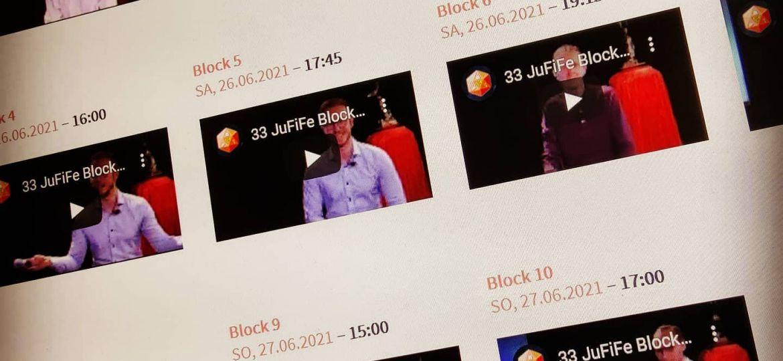 JuFiFe33 Filmblöcke auf Website